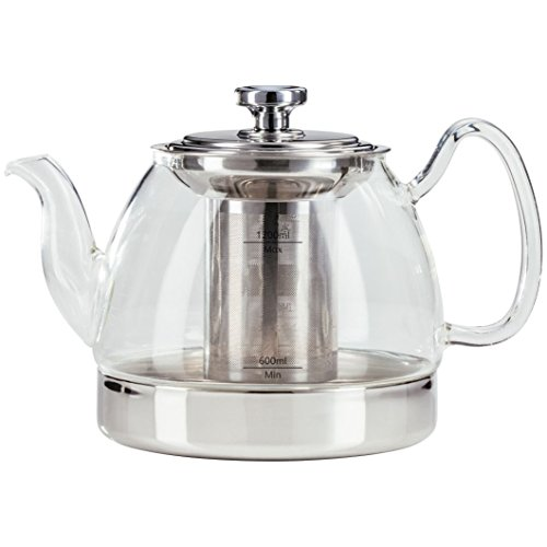 Judge Stove Top Glass Teapot with Infuser ALL Hob Types, 1.2L For Sale