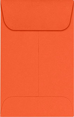 #1 Coin Envelopes (2 1/4 x 3 1/2) – Tangerine (1000 Qty.) | Perfect for the HOLIDAYS, Weddings, Parties & Place Cards | Fits Small Parts, Stamps, Jewelry, Seeds | LUX-1CO-112-1M