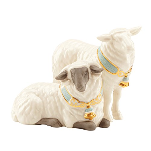Lenox First Blessing Nativity Pair of Sheep (Foley Ceramic)