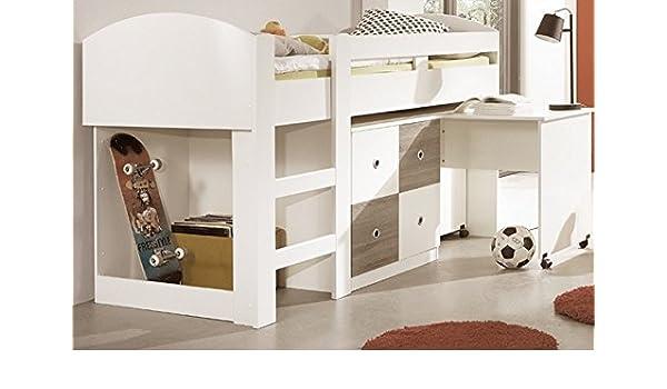 moebel-guenstig24.de Cama Alta Kira Cama Cuna Cama Infantil cómoda Escritorio semialto Roble: Amazon.es: Juguetes y juegos