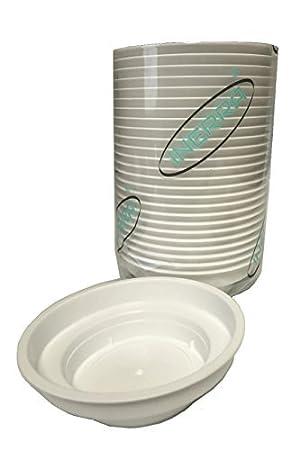 INERRA floreale Junior Scodelle - bianco plastica rotondo FIORISTA piatti per schiuma CILINDRI - Bianco, Pack of 5