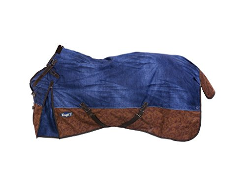 Tough 1 1200D Poly Snuggit Turnout Blanket Denim 7 by Tough 1