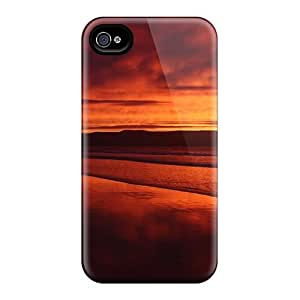 New Premium ASS37000qMWh Cases Covers For Iphone 6/ Red Sunset Beach Protective Cases Covers