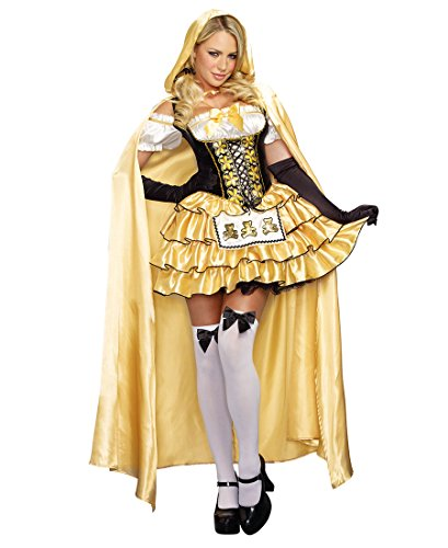 Sexy Goldilocks Costumes (Dreamgirl 9895 Goldilocks Sexy Womens Costume - Medium - Black/White/Yellow)