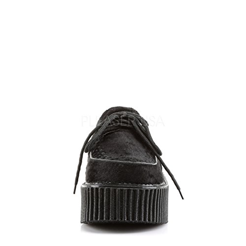 Demonia Womens Loafers Creeper-202 Black Suede NcH25lxT