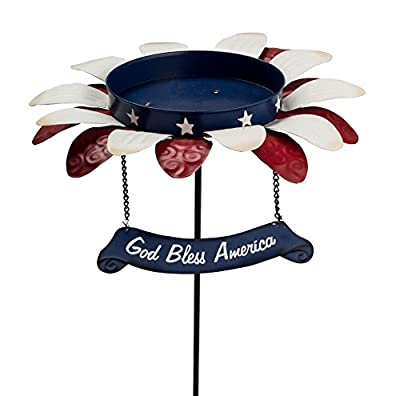 Metal Patriotic Bird Feeder Stake by Maple Lane CreationsTM