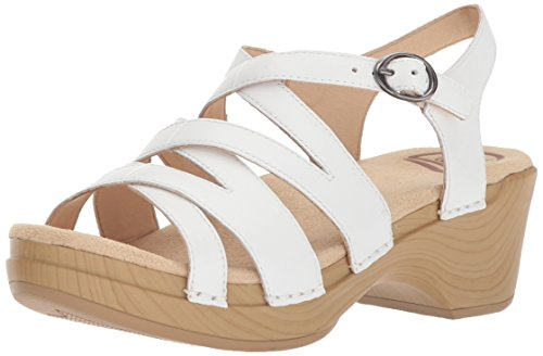 Dansko Women's Stevie Sandal, White Leather, 42 M EU (11.5-12 US)