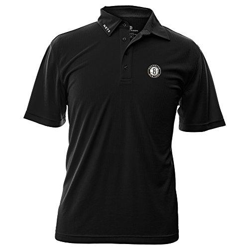 NBA Brooklyn Nets Men's Surface Wordmark Polo Shirt, Small, - Brooklyn Store Polo