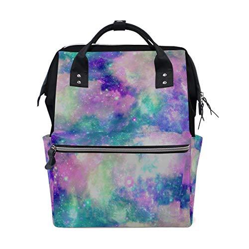 - Mermaid Rainbow Large Capacity Diaper Bags Mummy Backpack Multi Functions Nappy Nursing Bag Tote Handbag for Children Baby Care Travel Daily Women