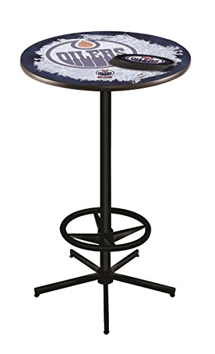 Holland Bar Stool Co. NHL Edmonton Oilers Officially Licensed Pub Table, 36""