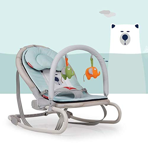 SHANJIANQING Rocking Chairs Baby Rocking Chair, Folding Cushion Fuuml r Winter and Summer Kouml; can The Multifunctional Cradle Clean 6421 (Color: Elephant) -XZL008 (Color : Bear)