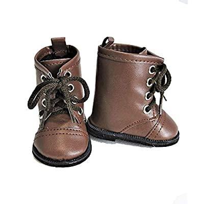American Fashion World Brown High Top Boots fits 18 inch Doll: Toys & Games