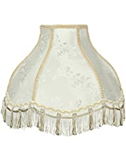 """Aspen Creative 30331 Transitional Scallop Bell Shape Spider Construction Lamp Shade 13"""" Wide (5"""" x 13"""" x 9 1/2), Ivory"""