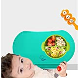 Food Catching Baby Placemat with Non-Slip, Premium