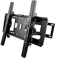 Sunydeal Full Motion Articulating Arm TV Wall Mount Bracket for Most 30-60 inch Vizio LG Samsung LCD LED Plasma Flat Screen Smart TV, VESA up to 500x400 and 75 lbs Capacity, with Tilt & Swivel
