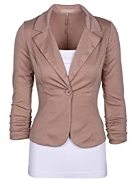Sexyshine Women's Solid Color Casual Work Office Blazer Jacket Coat