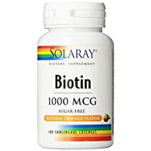 Solaray - Biotin Orange Flavoring, 1000 mcg, 100 lozenges [Health and Beauty]