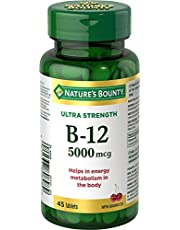 Nature's Bounty Ultra Vitamin B12 Supplement, Helps Maintain Good Health, 5000 Mcg, 45 Tablets