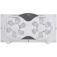 Sharper Image 9 ETL Certified Twin Window Fan with Remote Control