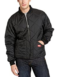 Men's Water Resistant Diamond Quilted Nylon Jacket