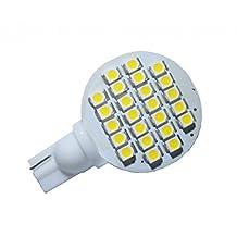 Grv T10 921 194 24-3528 SMD LED Bulb lamp Super Bright Warm White AC/DC 12V -28V Pack of 10