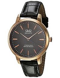 Reloj Q&Q para Hombres 40mm, pulsera de Piel de Becerro