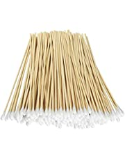 """Fu Store 200 Pcs Count 6"""" Inch Long Cotton Swabs with Wooden Handles Cotton Tipped Applicator, Cleaning With Wood Handle for Oil Makeup Gun Applicators, Eye Ears Eyeshadow Brush and Remover Tool"""