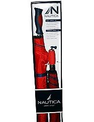 Nautica 2-Person Umbrella + Golf Umbrella Set - Blue/Red