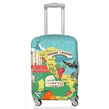 LOQI Luggage Cover, Italy Print, Checked, Medium