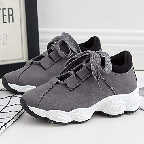KOKQSX-Calzados KOKQSX-Calzados KOKQSX-Calzados Deportivo Footing Running Zapatos Estudiantes Moda Zapatos de Mujer Treinta y Cinco Gris 4f6b2a