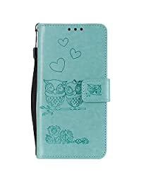 NEXCURIO Huawei P10 Lite Wallet Case with Card Holder Folding Kickstand Magnetic Leather Case Shockproof Flip Cover for Huawei P10 Lite - NEHHA100584 Green