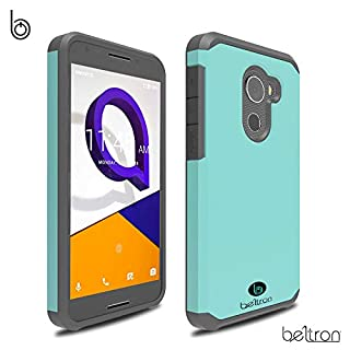 """BELTRON Jitterbug Smart2 Case, Slim Protective Phone Cover, Dual Layer Protection Hybrid Rugged Case Case for Jitterbug Smart 2 Easy-to-Use 5.5"""" Smartphone for Seniors by GreatCall (Teal Mint)"""