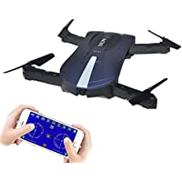 Rabing RC Drone Foldable Flight Path FPV Wifi RC Quadcopter Altitude Hold Remote Control Drone with 2MP HD 720P Camera (Black)