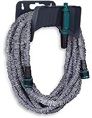 VONROC Tuinslang – flexibele tuinslang 10 tot 30 meter – met mondstuk en slanghouder