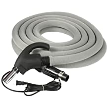 Cen-Tec Systems 99702 Central Vacuum 35-Feet Universal Connect Electric Hose with Sock and Button Lock Stub Tube