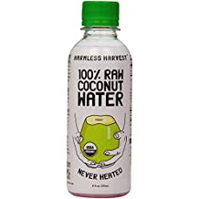 Harmless Harvest Organic 100 Percent Raw Coconut Water, 8 Fluid Ounce -- 12 per case.