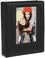 "Zink 2x3 Photo Album 64-Pocket Mini Photo Album w/Transparent Window Cover for 2""x3"" ZINK Zero Ink Photo Paper Compatible with Kodak, Lifeprint, Polaroid, HP, Canon, Fujifilm 2x3"" Photos"