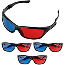 Frame Amo Universal Anaglyph 3D TV Glass, Red and Blue Lens, 3-PACK