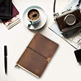 A5 Leather Notebook - Wanderings A5 Refillable