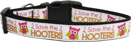 Mirage Pet Products Save The Hooters Nylon Dog Collars, Large