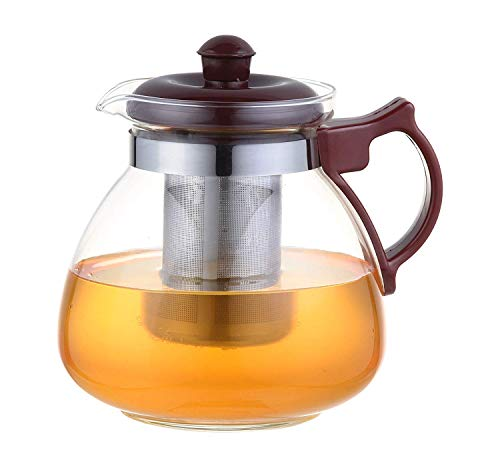 Femora Borosilicate Glass Tea Pot Carafe with Strainer, 850ML, Clear Price & Reviews