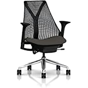 Herman Miller Sayl Task Chair: Tilt Limiter - Stationary Seat Depth - Stationary Arms - Hard Floor Casters - Polished...