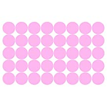 """2' x 2"""" Removable Wall Decal Polka Dots on Painted Walls Vinyl Decal Polka Dot Decor Wall Stickers Home Decor Home Decal Windows Shapes Room Quotes Party Vinyl Sticker (55, Baby Pink)"""