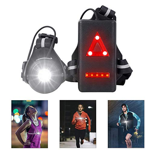 West Biking Night Running Lights, USB Rechargeable Chest Light with 90° Adjustable Beam Angle, 500 Lumens Waterproof…