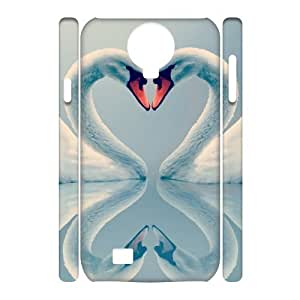 LZHCASE Diy Case Swan Cover For Samsung Galaxy S4 i9500 [Pattern-1]