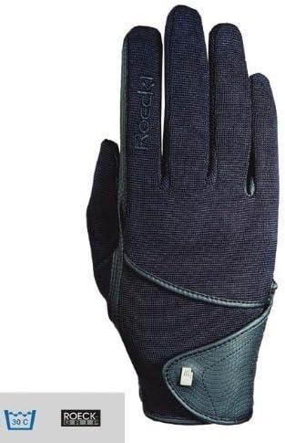 Roeckl Reithandschuhe 3301 268 Schwarz Touchscreen Compatible Trendig Funktionell Schwarz Black 10 5 Bekleidung