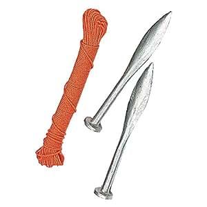 Spear & Jackson - Cordel trazador y clavos para albañilería
