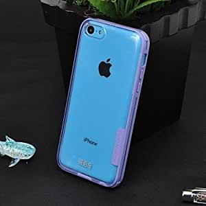 QHY Ruiboqi Fashion Simple Transparent Phone Case for iPhone 4/4S(Assorted Colors) , Purple