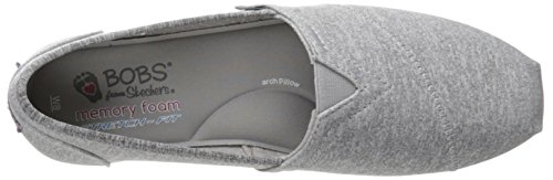Grey Flat BOBS Plush Fashion Women's from Slip Skechers On CCn8pHq