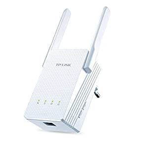 TP-LINK RE210 AC 750Mbps - Extensor de red WiFi/Repetidor ( alta sensibilidad, Puertos LAN, WPS)